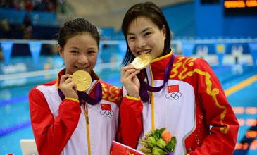 女双3米板-吴敏霞/何姿摘金 首位3连冠得主诞生