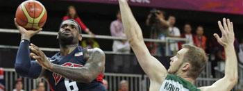 美国男篮险胜立陶宛