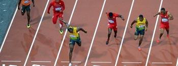 9秒63!闪电划破伦敦碗 博尔特称雄百米决战