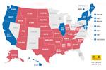 美国各州选情图