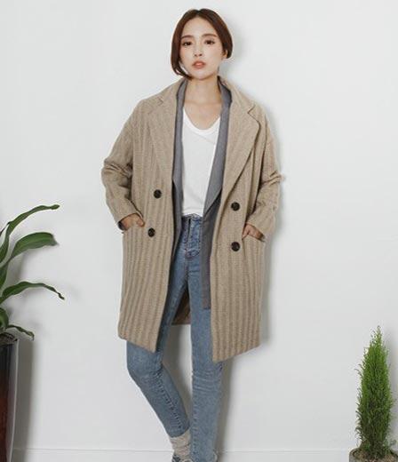 修身韩版呢子大衣 遮风减龄必备款