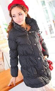 韩版显瘦修身羽绒服