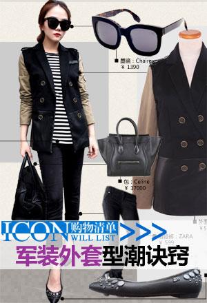 ICON购物清单No.6_设计师亲上阵 诠释军装款型潮诀窍