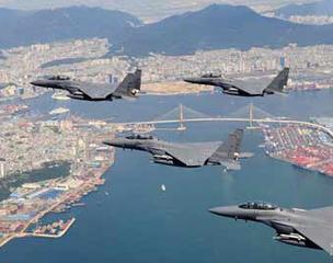 韩国空军飞行表演 纪念停战60周年