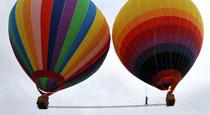 移动热气球间高空行走