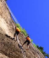 莲花山速降峭壁