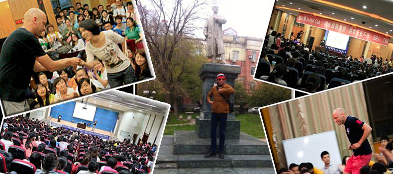 江森海喜欢去各个大学演讲,他希望能够鼓励更多年轻人实现创业梦。