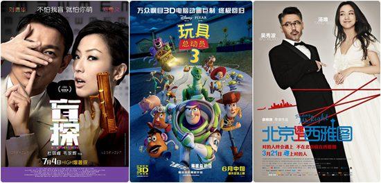 """《盲探》《玩具总动员3》《北京遇上西雅图》入选批""""北京展映""""片单。"""