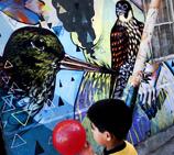 智利古城街头涂鸦