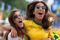 巴西美女庆祝胜利