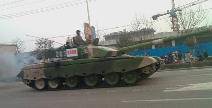 解放军99式主战坦克