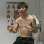 张稀哲狼堡体检纹身抢镜