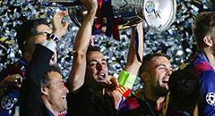 巴萨3-1尤文加冕三冠王