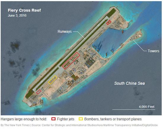 这些建设工程可能数月前就开始了,麻省理工学院政治系教授傅泰林(M. Taylor Fravel)分析道,中国建成这些飞机库并不意味着一定要打破不在该地区搞军事化的承诺,中国只是使自己拥有了将这些岛礁上的设施投入军事用途的选项,但现在并未决定是否这么做…而这确实让中国具备了可以对该地区进行有力防御,甚至力量投射的选项。   英国路透社称,8月9日他们就此问题得到了中国国防部传真回应:中国对南沙群岛及附近水域拥有不可争辩的主权…中方已多次重申,在南沙岛礁的建筑工程