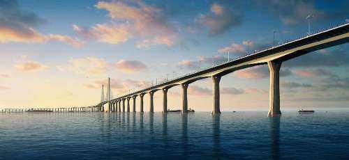 """港珠澳大桥海底隧道""""拼图""""成功 全线将贯通"""