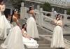 济南高校女大学生拍婚纱照致青春