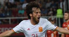 世预赛-西班牙2-1 席尔瓦展翅怒吼