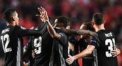 欧冠-曼联1-0本菲卡 众将欢庆进球