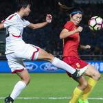 中国女足1-2不敌朝鲜