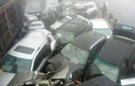 印度雾霾致13车连环相撞