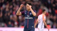法甲-巴黎4-0 卡瓦尼双拳握紧庆祝进球