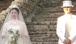 金星与老公汉斯在意大利复婚 身披白纱一脸幸福