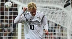 热身赛-德国2-1秘鲁 布兰特握拳庆祝