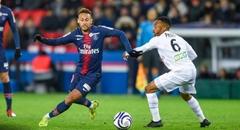 法联杯-巴黎1-2 内马尔突破
